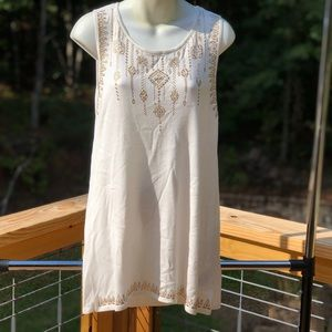 Ruby Rd. Sleeveless Gold Detailed Top Size S